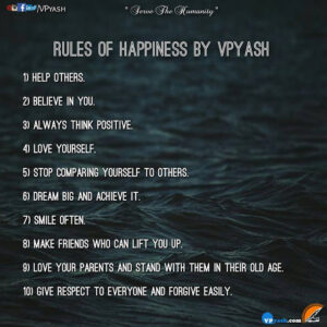 10 RULES OF HAPPINESS BY VPYASH