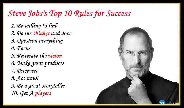Steve Jobs's Top 10 Rules for Success – Inspiring