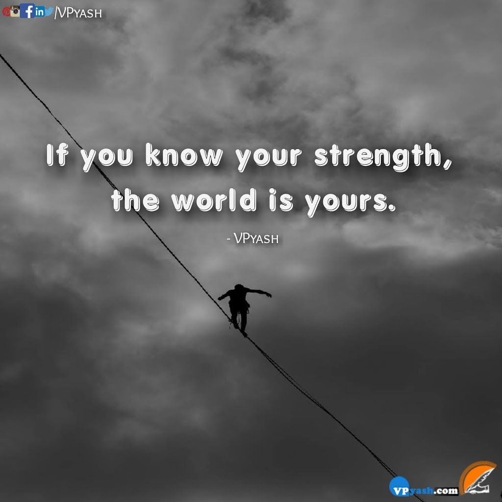 Read more about the article Know your strength the world is yours