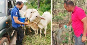जानवरों के लिए खर्च करते हैं आधी से ज्यादा कमाई, जंगलों में भी जाकर खिलाते हैं खाना
