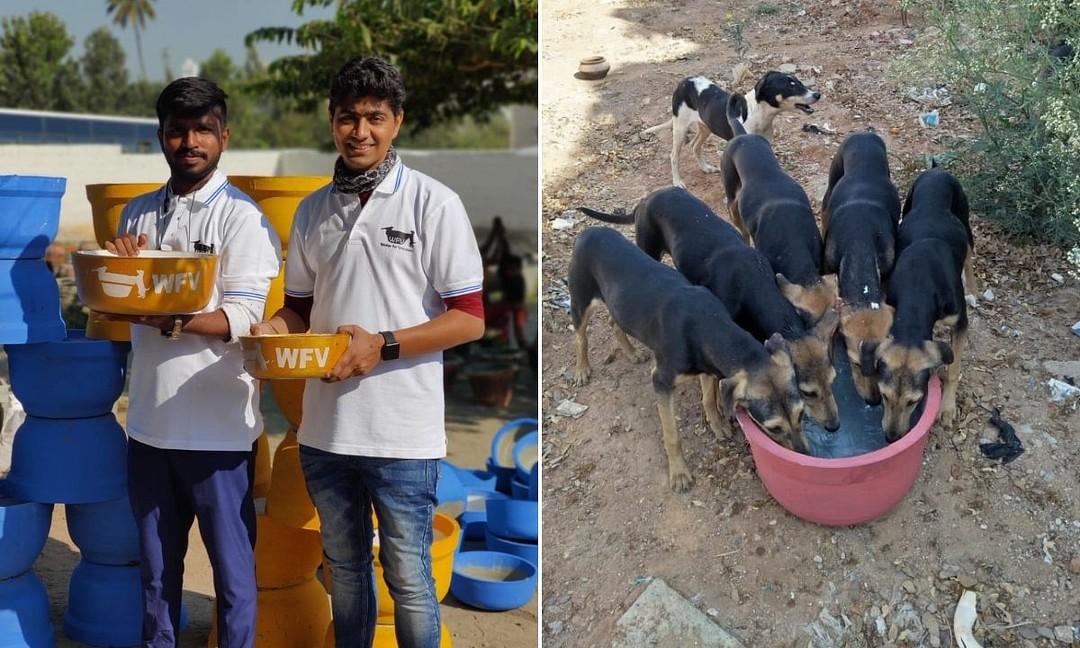 Social Heroes :कुत्ते को गटर से पानी पीता देख शुरू की पहल, अब तक बाँट चुके हैं 25,000 पानी के बर्तन